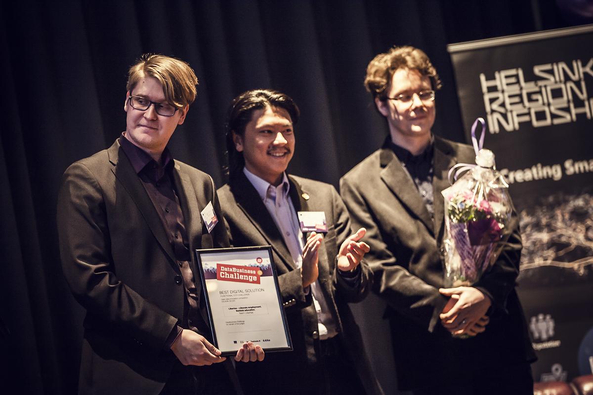 DataBusiness Challengen palkintojenjako vuonna 2017. Kuva: Mediaporras Oy.